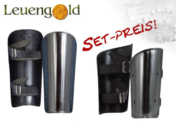 Set Basis Metall Arm- und Beinschienen