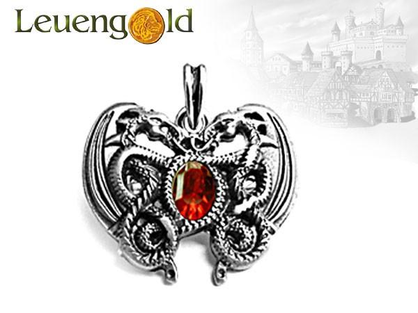 Drachenherz-Amulett, rot