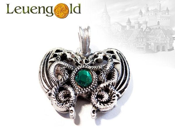 Drachenherz-Amulett, grün