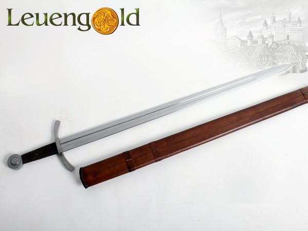 Kreuzritter Scheibenknauf-Schwert mit Scheide
