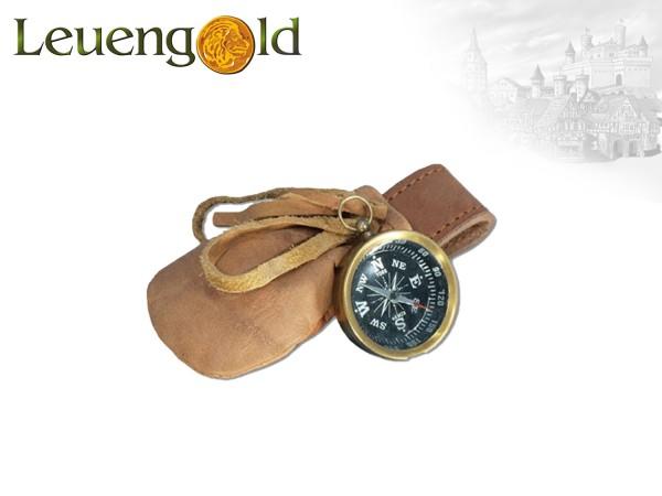 Kompass mit Ledertasche
